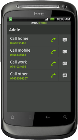 android softphone contact details