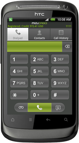 android softphone dialpad