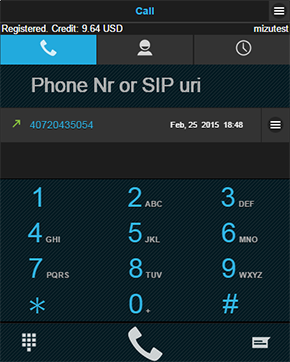 browser sip dialpad