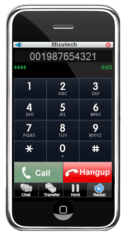 The Mizu browser Webphone is a VoIP softphone embeddable in all browsers